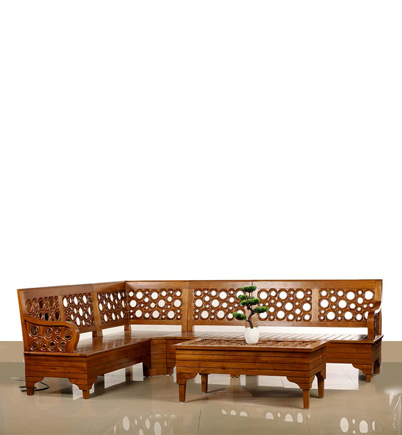 WOODEN CORNER SOFA SET-WCSS-01 - Home Furnitures & Interiors ...